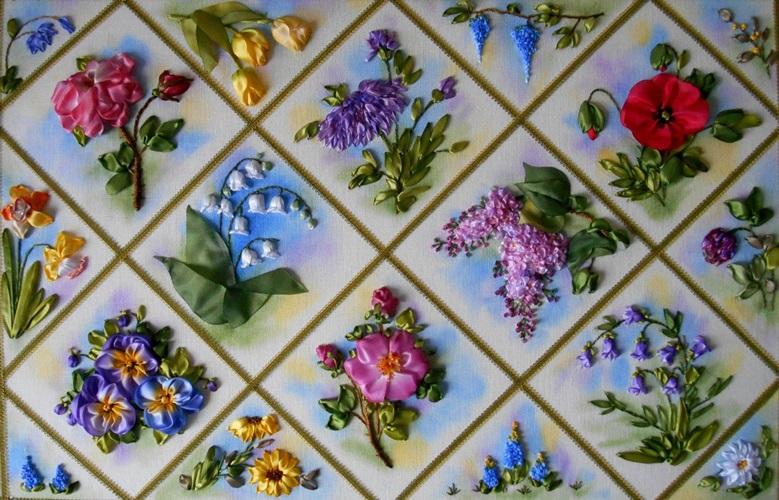 Вышивка цветов для начинающих мастер класс